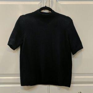 Loft - Navy Wool Sweater Shirt